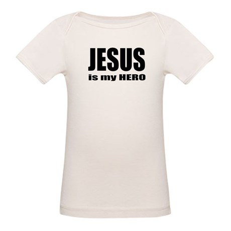 Jesus is Hero Organic Baby T-Shirt