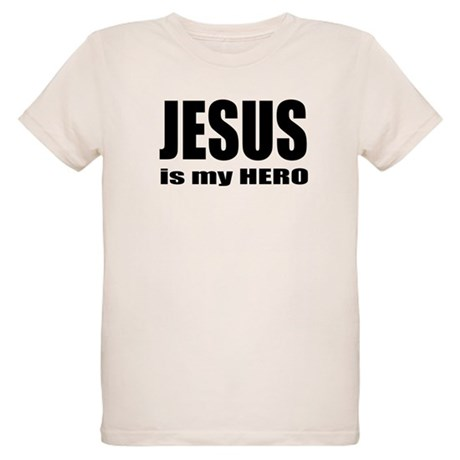 Jesus is Hero Organic Kids T-Shirt