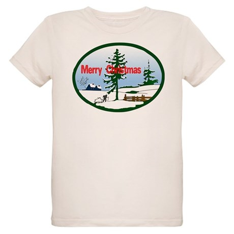 Christmas Snow Organic Kids T-Shirt