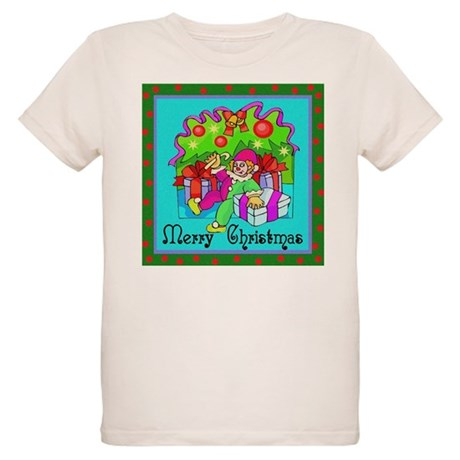 Merry Christmas Clown Organic Kids T-Shirt