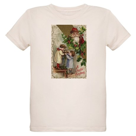Vintage Christmas Card Organic Kids T-Shirt