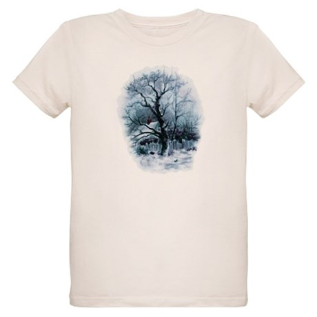 Winter Snowscene Organic Kids T-Shirt