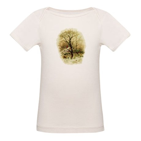Winter Scene Organic Baby T-Shirt