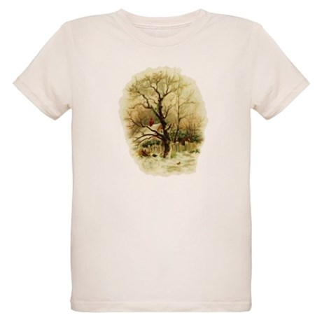 Winter Scene Organic Kids T-Shirt