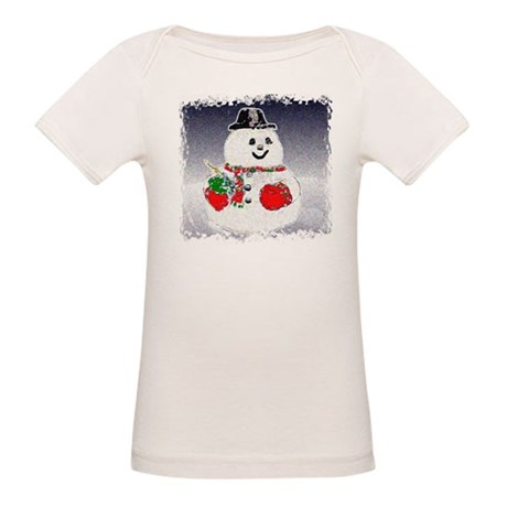 Winter Snowman Organic Baby T-Shirt