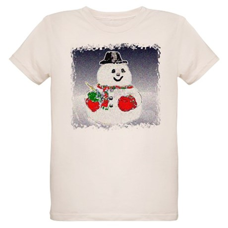 Winter Snowman Organic Kids T-Shirt