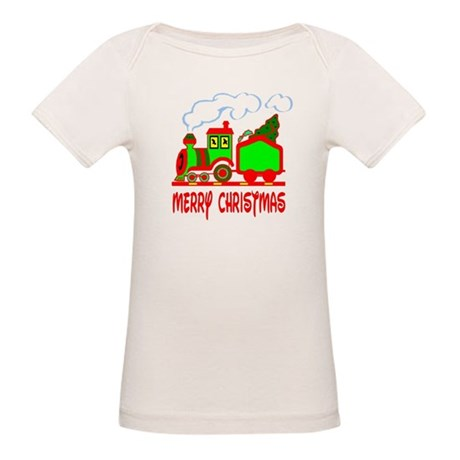 Christmas Train Organic Baby T-Shirt