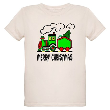 Christmas Train Organic Kids T-Shirt
