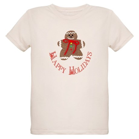 Gingerbread Holidays Organic Kids T-Shirt