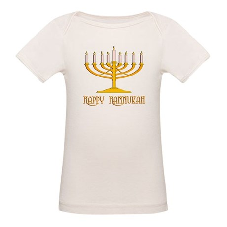 Happy Hanukkah Organic Baby T-Shirt