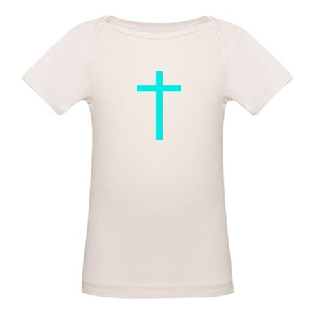Teal Cross Organic Baby T-Shirt