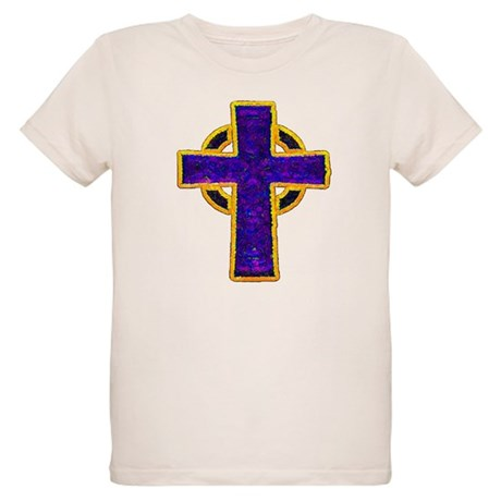 Celtic Cross Organic Kids T-Shirt