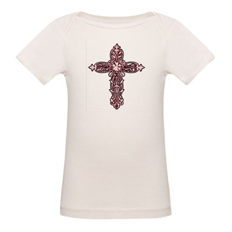 Victorian Cross Organic Baby T-Shirt