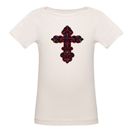 Ornate Cross Organic Baby T-Shirt