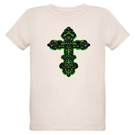 Ornate Cross Organic Kids T-Shirt