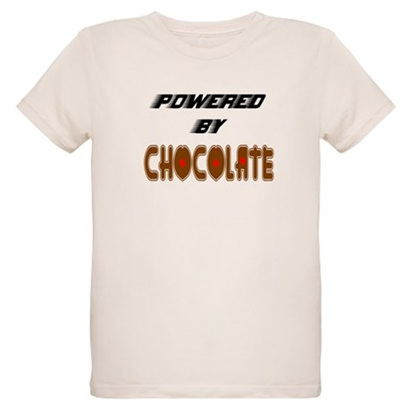 Powered by Chocolate Organic Kids T-Shirt