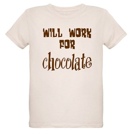 Work for Chocolate Organic Kids T-Shirt
