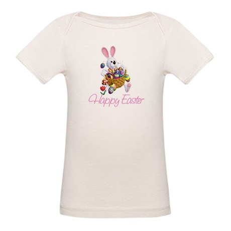 Happy Easter Bunny Organic Baby T-Shirt