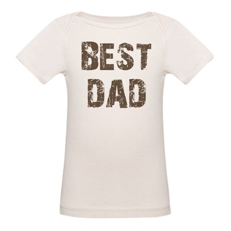 Best Dad Father's Day Brown Organic Baby T-Shirt
