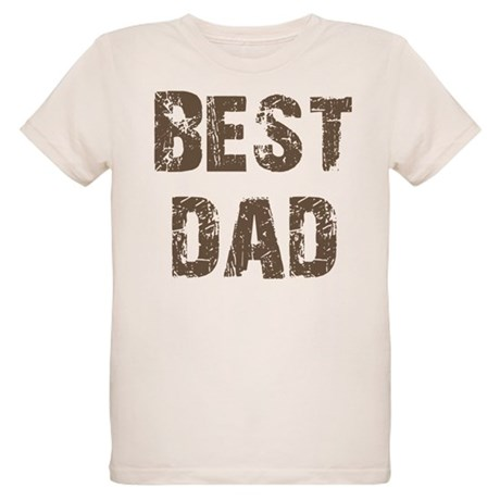 Best Dad Father's Day Brown Organic Kids T-Shirt