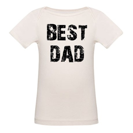Father's Day Best Dad Organic Baby T-Shirt