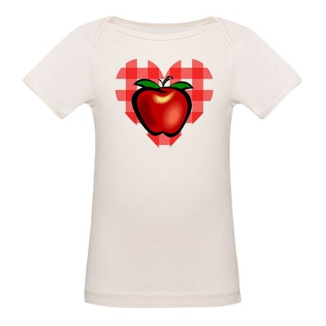Checkered Tablecloth Apple He Organic Baby T-Shirt