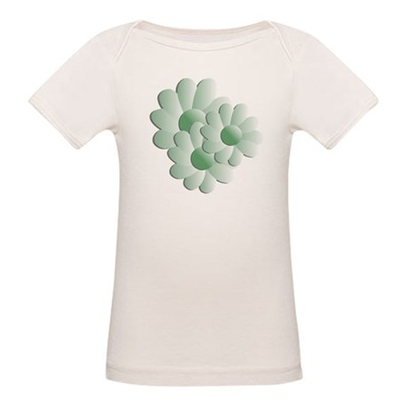 Pretty Daisy Trio - Green Organic Baby T-Shirt