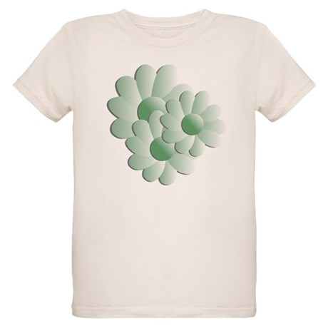 Pretty Daisy Trio - Green Organic Kids T-Shirt