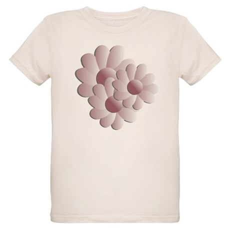 Pretty Daisy Trio - Pink Organic Kids T-Shirt