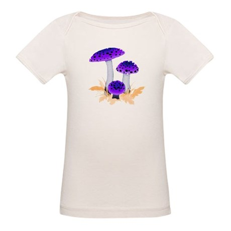Purple Mushrooms Organic Baby T-Shirt