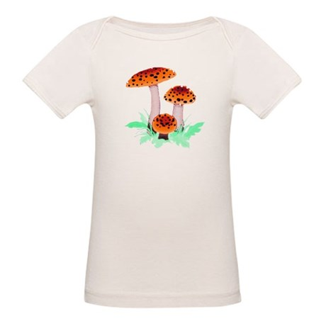 Orange Mushrooms Organic Baby T-Shirt