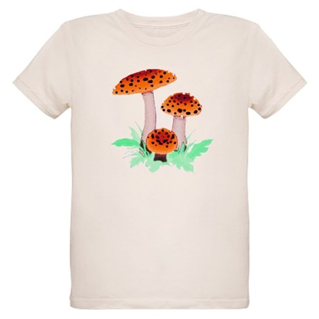 Orange Mushrooms Organic Kids T-Shirt