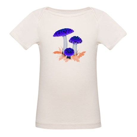 Blue Mushrooms Organic Baby T-Shirt