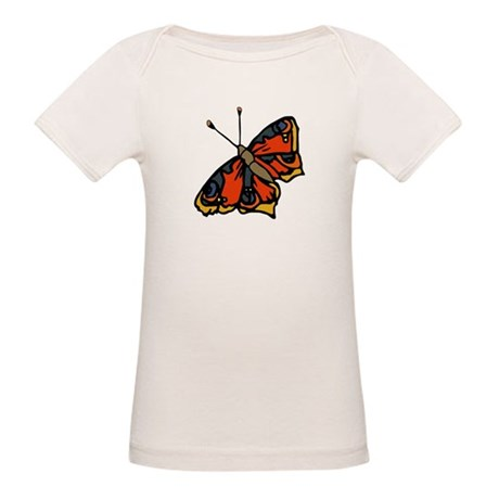 Orange Butterfly Organic Baby T-Shirt