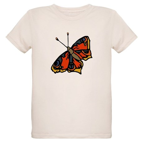 Orange Butterfly Organic Kids T-Shirt