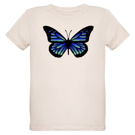Blue Butterfly Organic Kids T-Shirt