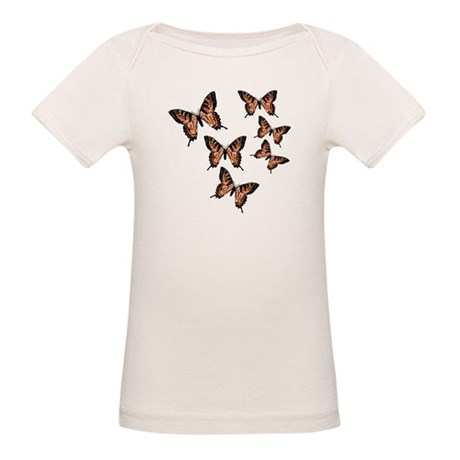 Orange Butterflies Organic Baby T-Shirt