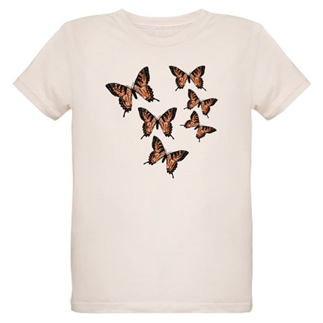 Orange Butterflies Organic Kids T-Shirt