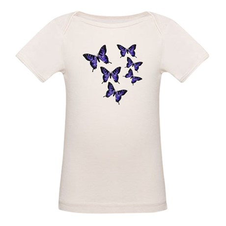 Purple Butterflies Organic Baby T-Shirt
