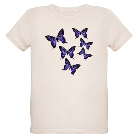 Purple Butterflies Organic Kids T-Shirt