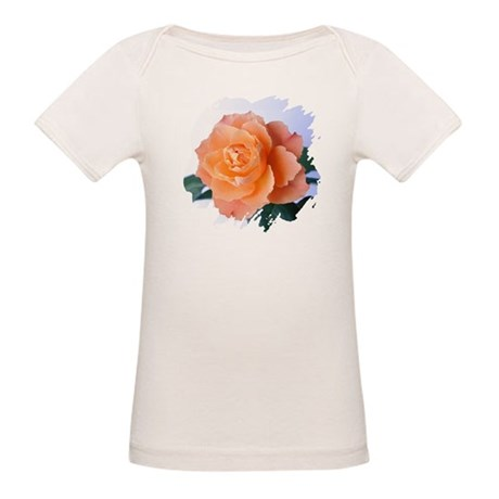 Orange Rose Organic Baby T-Shirt