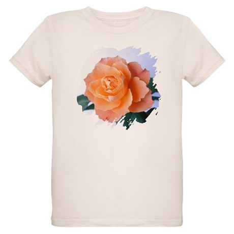 Orange Rose Organic Kids T-Shirt
