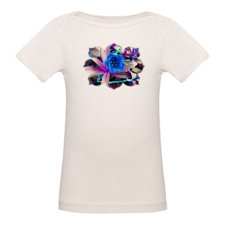 Blue Flower Organic Baby T-Shirt
