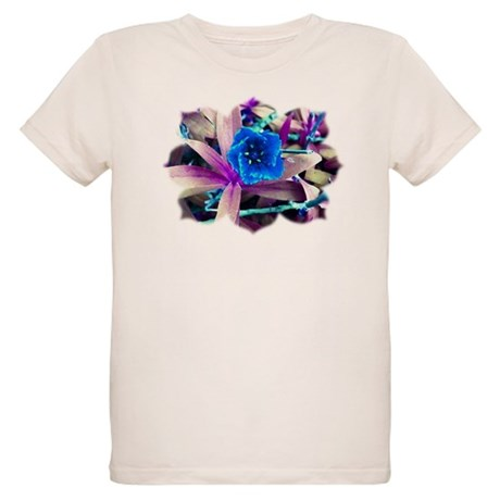 Blue Flower Organic Kids T-Shirt