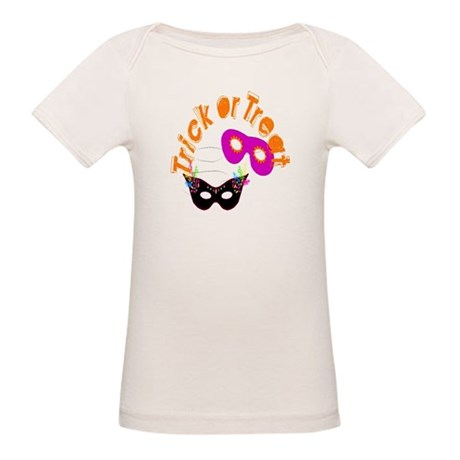 Trick or Treat Masks Organic Baby T-Shirt