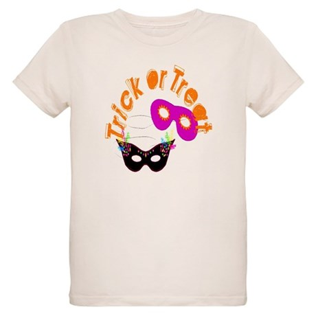 Trick or Treat Masks Organic Kids T-Shirt