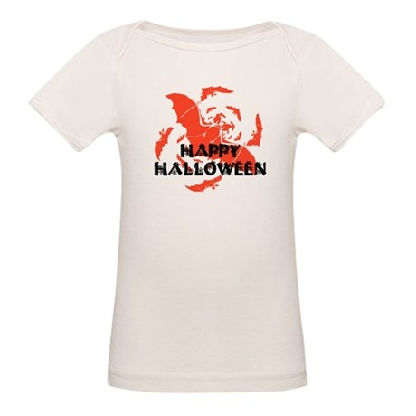 Happy Halloween Bats Organic Baby T-Shirt