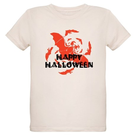 Happy Halloween Bats Organic Kids T-Shirt