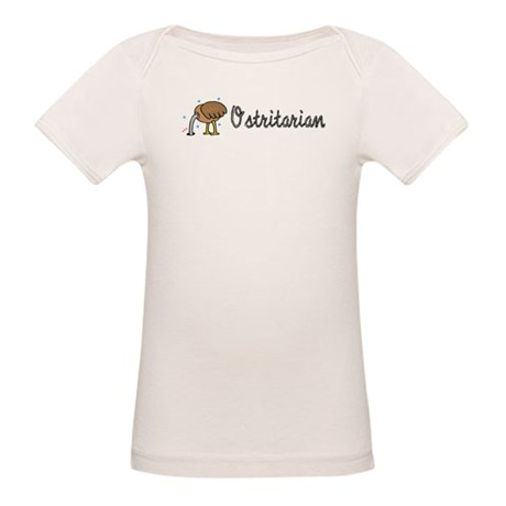 Ostrich Ostritarian Organic Baby T-Shirt