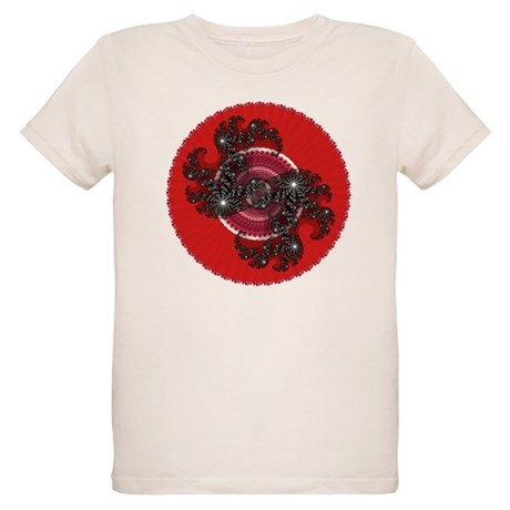 Fractal Kaleidoscope Red 2 Organic Kids T-Shirt